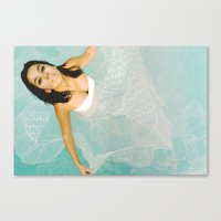 siren Canvas Prints featuring Siren by Lorra Barile
