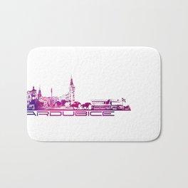 Pardubice skyline city purple Bath Mat
