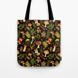 Vintage & Shabby Chic - Autumn Harvest Black Tote Bag