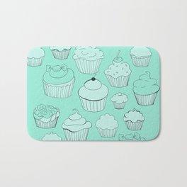 Minty Green Cupcakes! Bath Mat