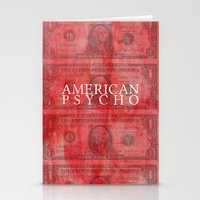 american psycho Stationery Cards featuring American Psycho by Robert Payton