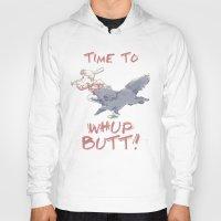 butt Hoodies featuring Whup Butt! by Yiji