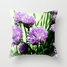 Pretty Chives Throw Pillow