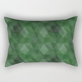 Broken green glass Rectangular Pillow