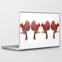 cardinal Laptop & iPad Skins featuring Cardinal by Jody Edwards Art