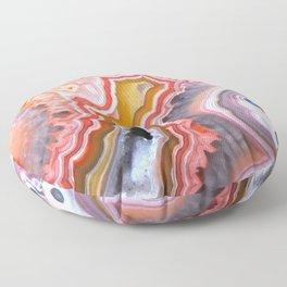Agate Gem slice Floor Pillow