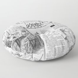 Pride and Prejudice - Pages Floor Pillow