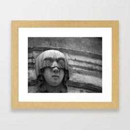 Veiled Shame Framed Art Print