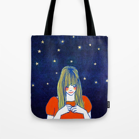 Girls in blue Tote Bag