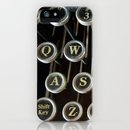 'Qwerty' Typewriter Keys Photo iPhone Case