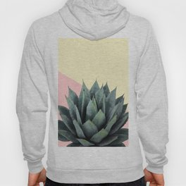 Agave Plant on Lemon and Pink Wall Hoody