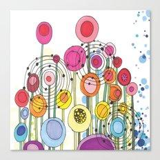 Lollipop Flowers Canvas Print