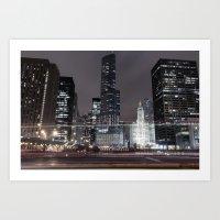Chicago Nights Series Art Print