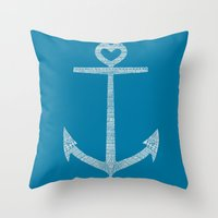 kpop Throw Pillows featuring Love is the anchor by Picomodi