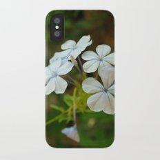 White little flower Slim Case iPhone X