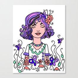 Style Girl - Emma - Doodle Art Canvas Print