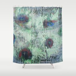 Cells - abstract, bright, RGB, acrylic piece Shower Curtain