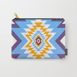 Bright blue native pattern Carry-All Pouch