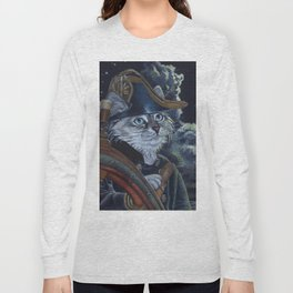 Sea Captain Cat Long Sleeve T-shirt