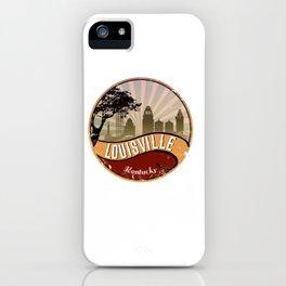 Louisville City Skyline Design Kentucky Retro Vintage iPhone Case