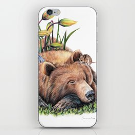 Snoozing iPhone Skin