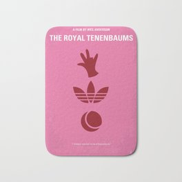 No320 My The Royal Tenenbaums minimal movie poster Bath Mat