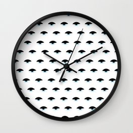 Sleepy Eyes (clear background) Wall Clock