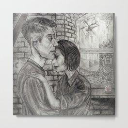 Winston and Julia Metal Print