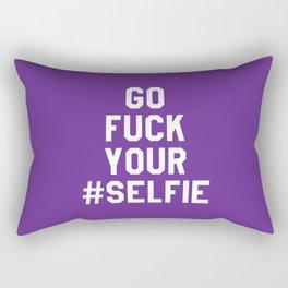 GO FUCK YOUR SELFIE (Purple) Rectangular Pillow