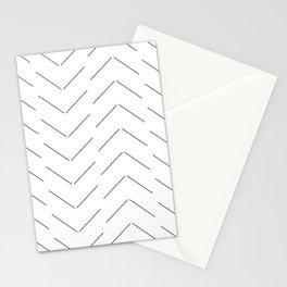 LINEd_HerringboneFew_BW Stationery Cards