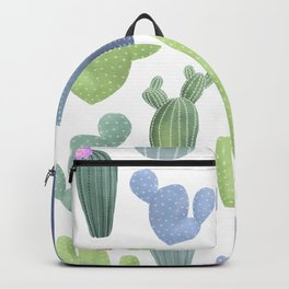 watercolor cacti plants pattern Backpack