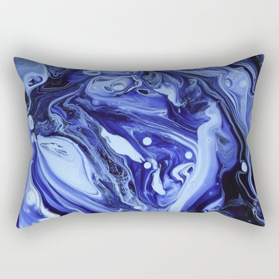 MIDNIGHT BLUE MARBLE Rectangular Pillow