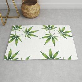 Marijuana Leaves Rug