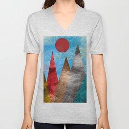 Sun and Mountains Unisex V-Neck