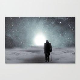 Old Man Walking Towards Heaven Canvas Print