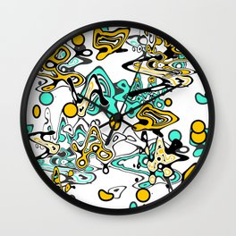 Multicolored abstract pattern Wall Clock