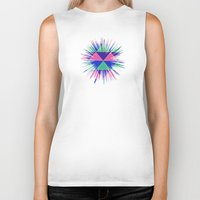 triangles Biker Tanks featuring Triangles by Marjolein