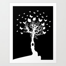 We will all laugh at gilded butterflies Art Print
