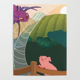 The spider and the pig Poster