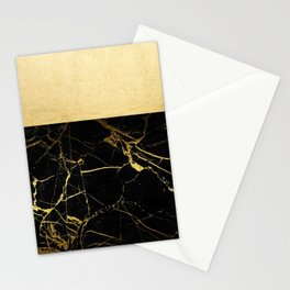 Gold and Black Marble Stationery Cards