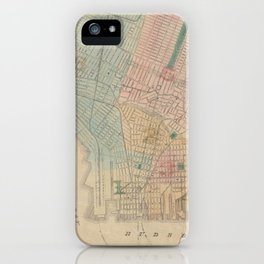 Vintage Map of Jersey City NJ (1879) iPhone Case