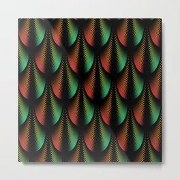 Modern abstract pattern metallic dark colors design Metal Print