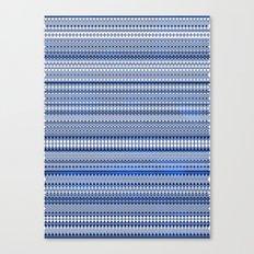 Tribality Blue Texture Canvas Print