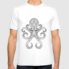 Mandarin Dragonet Octopus MEDIUM White Mens Fitted Tee