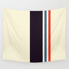 Classic Minimal Racing Car Retro Stripes - Furaribi Wall Tapestry