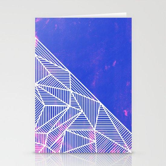 B Rays Geo Punk Stationery Cards