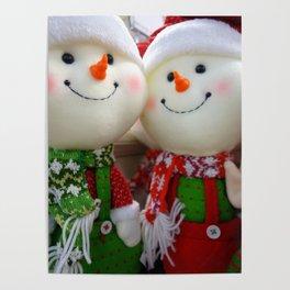 Jolly snowman Poster