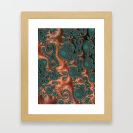 Copper Leaves - Fractal Art Framed Art Print