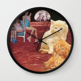 des chatons pour american beauty Wall Clock