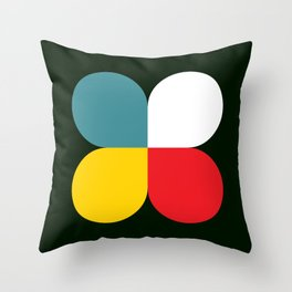 Four-leaf clover Throw Pillow